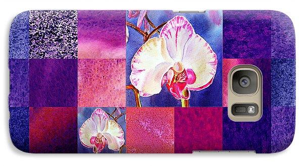 Hidden Orchids Squared Abstract Design Galaxy Case by Irina Sztukowski