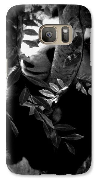 Galaxy Case featuring the photograph Hidden Panda by Amanda Eberly-Kudamik