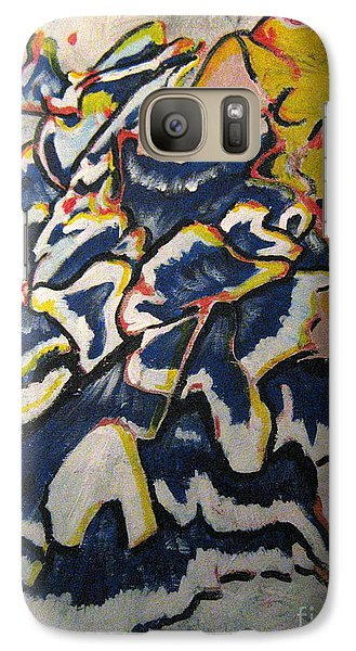Galaxy Case featuring the painting Hidden Treasure by Wendy Coulson