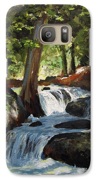 Galaxy Case featuring the painting Hidden Waterfall by Carol Hart