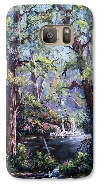 Galaxy Case featuring the painting Hidden Waters by Megan Walsh