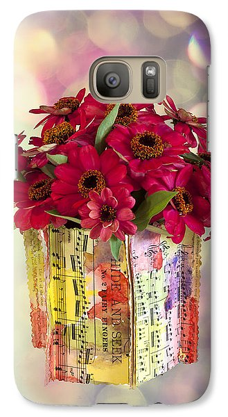 Galaxy Case featuring the photograph Hide And Seek Zinnias by Sandra Foster