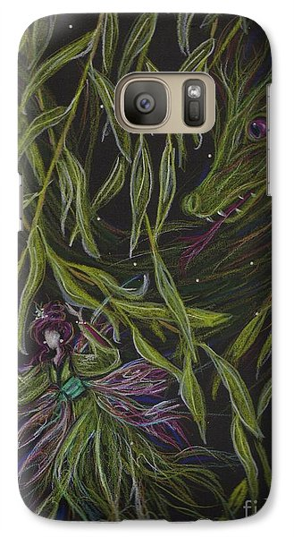 Galaxy Case featuring the drawing Hide And Willow Seeking by Dawn Fairies