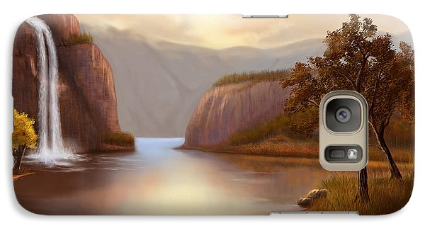 Galaxy Case featuring the painting Hideaway In The Mountains by Sena Wilson