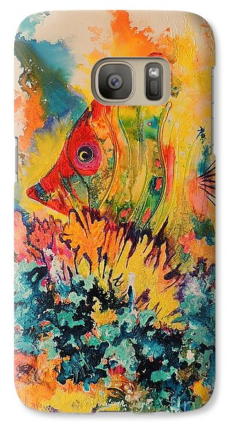 Galaxy Case featuring the painting Hiding Amongst The Coral by Lyn Olsen