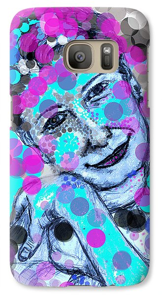 Galaxy Case featuring the drawing Hiding In My Bubbles by Sladjana Lazarevic