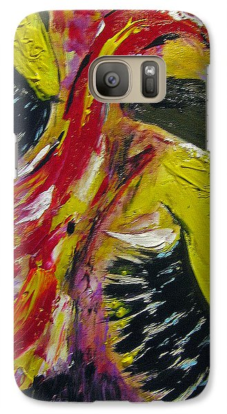 Galaxy Case featuring the painting Hier Au Cirque by Lucy Matta