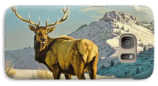 Bull Galaxy S7 Case - High Country Bull by Paul Krapf