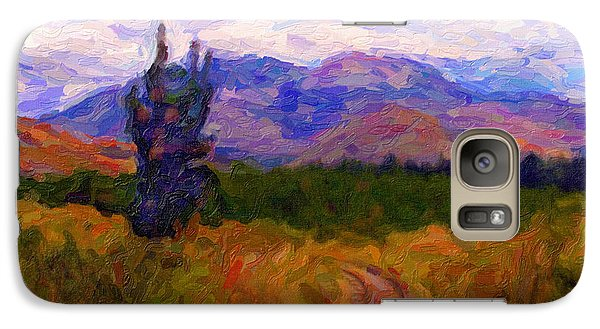 Galaxy Case featuring the digital art High Country Tracks by Chuck Mountain