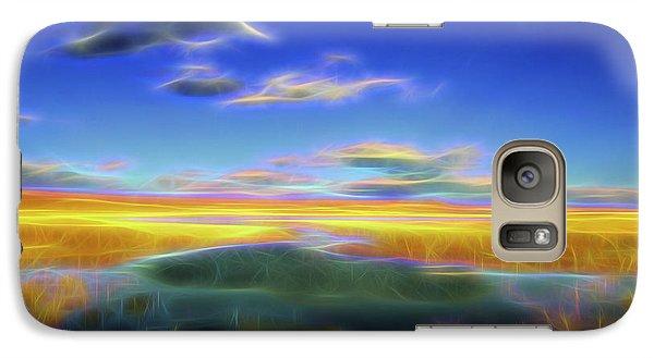 Galaxy Case featuring the digital art High Desert Lake by William Horden