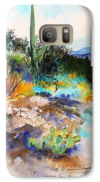 Galaxy Case featuring the painting High Desert Scene 2 by M Diane Bonaparte