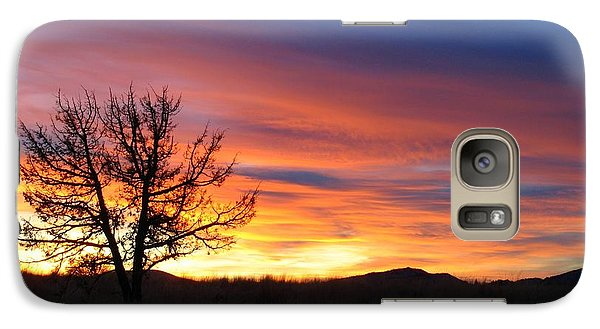 Galaxy Case featuring the photograph High Desert Sunset by Kevin Desrosiers