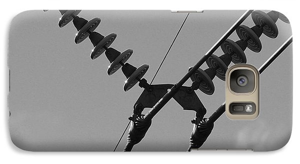 Galaxy Case featuring the photograph High Power Lines - 3 by Kenny Glotfelty
