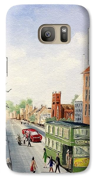 Galaxy Case featuring the painting High Street by Helen Syron