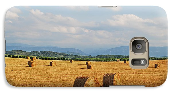 Galaxy Case featuring the photograph High Summer Harvest by Ankya Klay