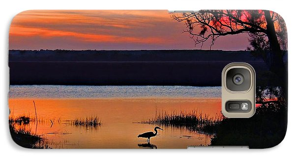 Galaxy Case featuring the photograph High Tide Heron by Laura Ragland