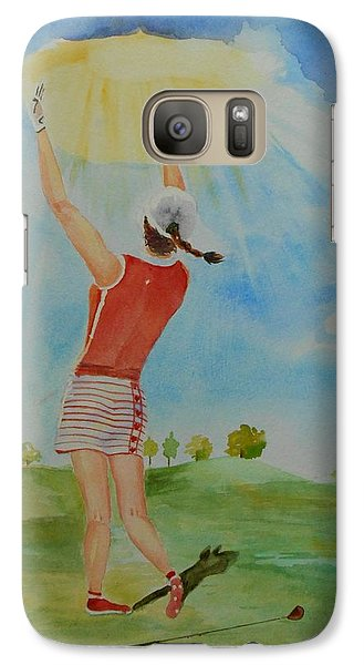 Galaxy Case featuring the painting Highest Calling Is God Next Golf by Geeta Biswas