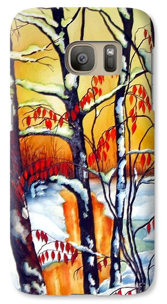 Galaxy Case featuring the painting Highland Creek Sunset 2  by Inese Poga
