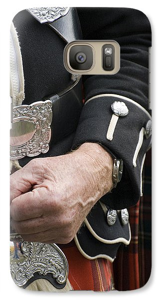 Galaxy Case featuring the photograph Highland Scottish Soldier by Sally Ross