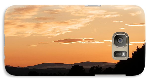 Galaxy Case featuring the photograph Highland Sunset by Carolyn Cable