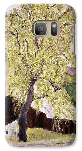 Galaxy Case featuring the painting Highway Barn by Aleezah Selinger