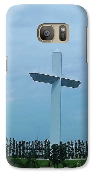 Galaxy Case featuring the photograph Highway Cross by Brigitte Emme