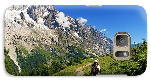 Galaxy Case featuring the photograph hiking in Ferret Valley by Antonio Scarpi