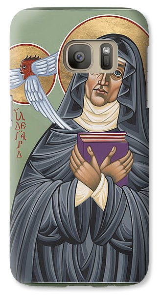Galaxy Case featuring the painting St. Hildegard Of Bingen 171 by William Hart McNichols