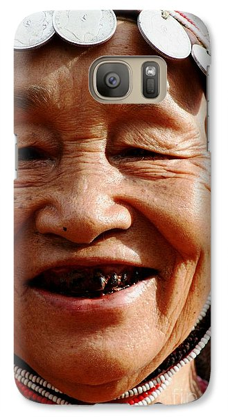 Galaxy Case featuring the photograph Hill Tribe Smile by Nola Lee Kelsey