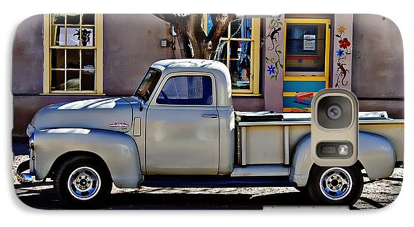 Galaxy Case featuring the painting Hillsboro New Mexico 1949 Gmc 100 by Barbara Chichester