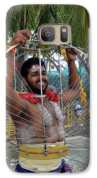 Galaxy Case featuring the photograph Hindu Thaipusam Festival Pierced Devotee  by Imran Ahmed