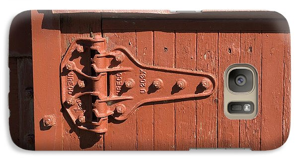 Galaxy Case featuring the photograph Hinge On Railcar by Douglas Pike