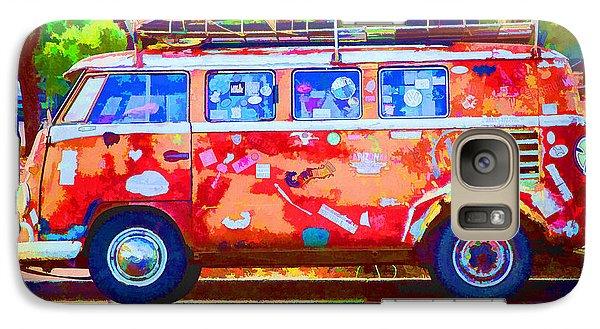 Galaxy Case featuring the photograph Hippie Van by Jaki Miller