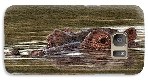 Hippo Painting Galaxy S7 Case