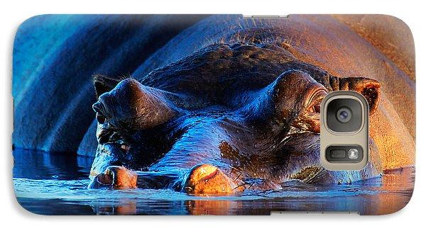 Hippopotamus  At Sunset Galaxy S7 Case
