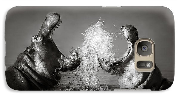 Hippo's Fighting Galaxy S7 Case by Johan Swanepoel