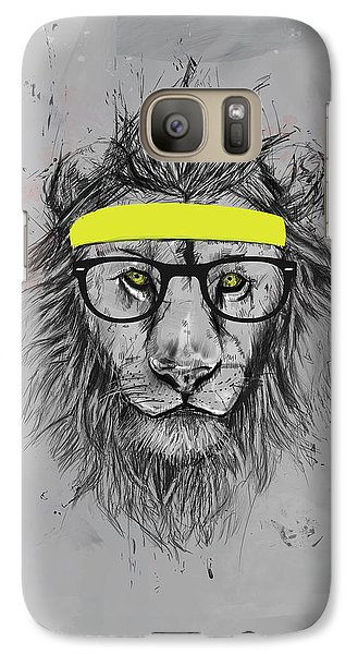 Lion Galaxy S7 Case - Hipster Lion by Balazs Solti
