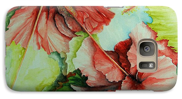 Galaxy Case featuring the painting Hiroko's Hibiscus by Rachel Lowry