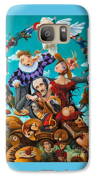 Galaxy Case featuring the painting His Majesty Edgar Allan Poe by Igor Postash