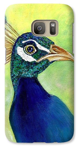 Galaxy Case featuring the painting His Royal Nibs  by Jeanne Kay Juhos