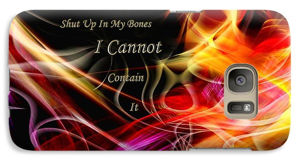 Galaxy Case featuring the digital art His Word In My Heart by Margie Chapman