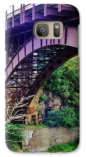 Galaxy Case featuring the photograph Historic Ausable Chasm Bridge by Patti Whitten
