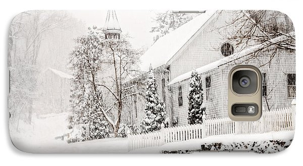 Galaxy Case featuring the photograph Historic Church In Oella Maryland During A Blizzard by Vizual Studio