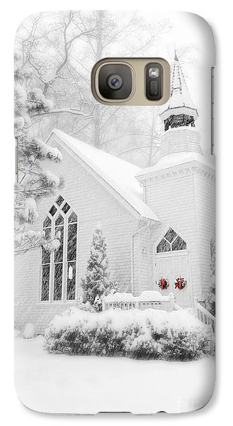Galaxy Case featuring the photograph White Christmas In Oella Maryland Usa by Vizual Studio