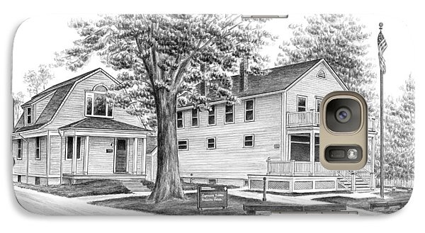 Galaxy Case featuring the drawing Historic Jaite Mill - Cuyahoga Valley National Park by Kelli Swan