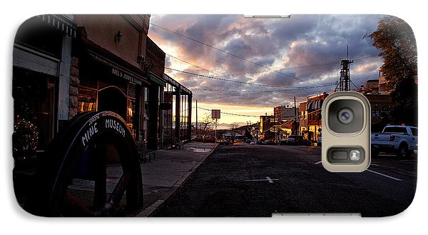 Galaxy Case featuring the photograph Historic Jerome Arizona Sunrise by Ron Chilston