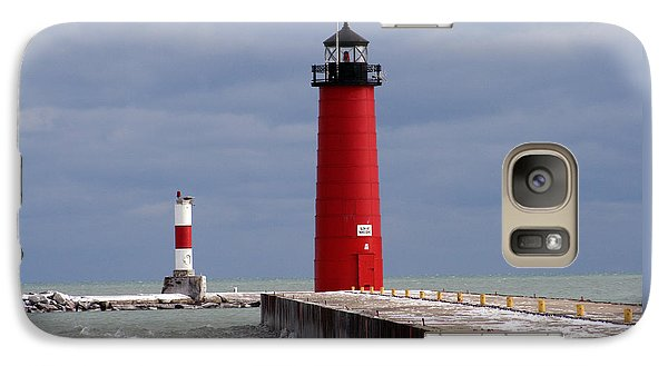 Galaxy Case featuring the photograph Historic Pierhead Lighthouse by Kay Novy