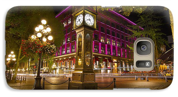 Galaxy Case featuring the photograph Historic Steam Clock In Gastown Vancouver Bc by JPLDesigns