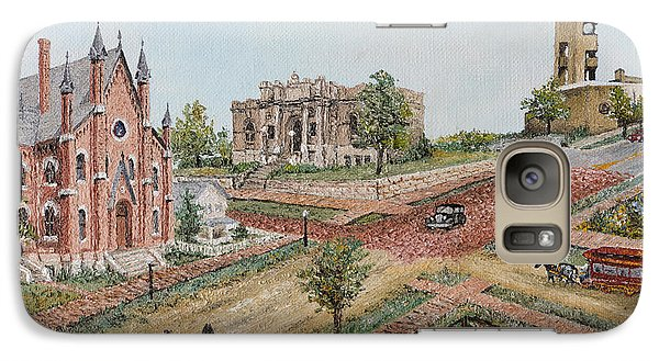 Galaxy Case featuring the painting Historic Street - Lawrence Kansas by Mary Ellen Anderson