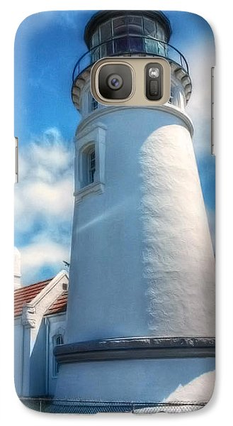 Galaxy Case featuring the photograph Historic Umpqua River Lighthouse by Tyra  OBryant